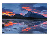 Mount Rundle Reflected in Vermillion Lake Art by Mike Grandmaison