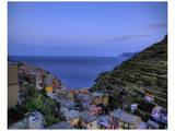 Manarola Looking towards Ligurian Sea Art by Richard Desmarais