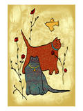 Cats and Roses Prints by Penny Keenan