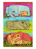 Zoo Animals I Art by Penny Keenan