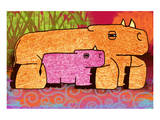 Rhinos Prints by Penny Keenan