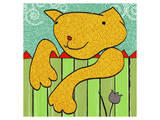 Fence Cat Posters by Penny Keenan
