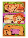 Zoo Animals II Art by Penny Keenan