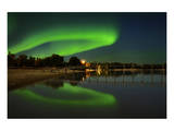 Northern Lights Reflected in Lake Winnipeg II Prints by Mike Grandmaison