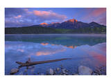 Patricia Lake at Sunrise Prints by Mike Grandmaison