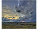 Val d'Orcia Sunset in Storm Print by Richard Desmarais