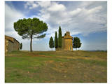 Tuscany Capella di Vitaleta Rear View Prints by Richard Desmarais