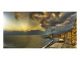 Camogli Sunset in Storm Posters by Richard Desmarais