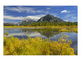 Vermillion Lake in Autumn Prints by Mike Grandmaison