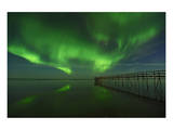 Northern Lights Reflected in Lake Winnipeg I Prints by Mike Grandmaison