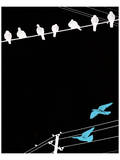 Birds on Power Lines II Prints by Irena Orlov