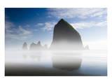 Cannon Beach in the Mist Art by Richard Desmarais