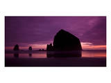 Cannon Beach Red Sunset Prints by Richard Desmarais