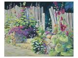 Hollyhock Garden Posters by Julie Pollard