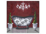 French Tub Red I Art by Cathy Hartgraves