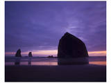 Cannon Beach Purple Sunset Posters by Richard Desmarais