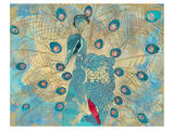 Peacock I Prints by Karin Connolly