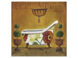 Tuscan Tub in Poppies I Art by Cathy Hartgraves