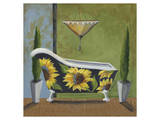 Tuscan Tub Sunflowers I Prints by Cathy Hartgraves