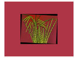 Hot pink tropical Grass Prints