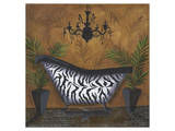 Safari Soak in Zebra I Prints by Cathy Hartgraves