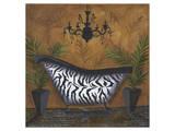Safari Soak in Zebra I Prints by Cathy Hartgraves