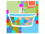 Colorful Bath II Prints by  Yashna