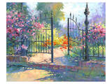 Into the Garden Poster by Julie Pollard