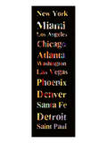 List of Cities I Print by Irena Orlov