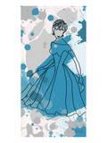 Women in Blue Dress Posters by Irena Orlov