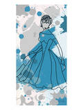 Women in Blue Dress Prints by Irena Orlov
