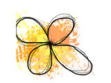 Orange Yellow Abstract Flower Prints by Irena Orlov