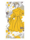 Women in Yellow Dress Print by Irena Orlov