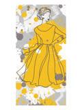 Women in Yellow Dress Print by Irena Orlov