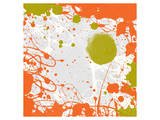 Green Orange Garden I Print by Irena Orlov