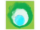 Green White Aqua Prints by Irena Orlov