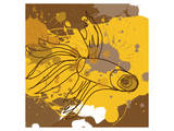 Yellow-Brown Fish Posters by Irena Orlov