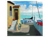 Seaside Steps Print by Kurt Novak