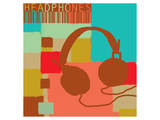 Headphones Poster by  Yashna