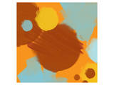 Abstract Brown, Yellow, Blue I Prints by Irena Orlov