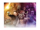 Guardians of the Galaxy - Star-Lord, Rocket Raccoon, Groot, Drax, Gamora, Ronan the Accuser Prints