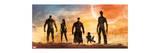 Guardians of the Galaxy - Star-Lord, Rocket Raccoon, Drax, Gamora, Groot Kunstdruck