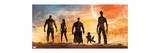 Guardians of the Galaxy - Star-Lord, Rocket Raccoon, Drax, Gamora, Groot Premium Giclee Print