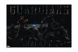 Guardians of the Galaxy - Rocket Raccoon, Drax, Star-Lord, Gamora, Groot Art