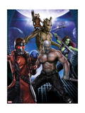 Guardians of the Galaxy - Star-Lord, Drax, Groot, Gamora, Rocket Raccoon Art