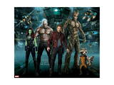 Guardians of the Galaxy - Rocket Raccoon, Draxm Star-Lord, Gamora, Groot Prints