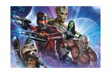 Guardians of the Galaxy - Star-Lord, Drax, Groot, Gamora, Rocket Raccoon Posters
