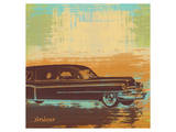 Brown Retro Car I Print by  Yashna