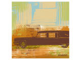 Brown Retro Car II Prints by  Yashna