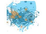 Blauer Fisch Kunst von Irena Orlov